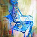"""Blue Skeleton chair"" by HCalderon"