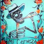 """Mi Cerveza (My Beer) Skeleton"" by HCalderon"