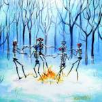 """Dancing Skeletons on a Wonderland Ring"" by HCalderon"