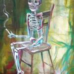"""White Skeleton Chair"" by HCalderon"