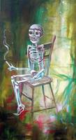 White Skeleton Chair