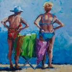 """Mom & Gram at the Beach"" by BCArt"