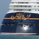 """Disney Dream cruise ship  stern"" by Landbysea"