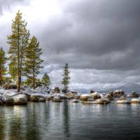 Sand Harbor Snow Art Prints & Posters by David Smith