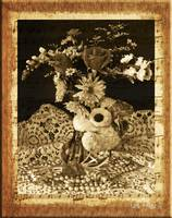 Floral Arrangement Still Life Sepia-tone Wall Art