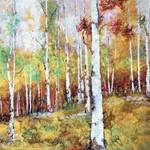 """Metallic Birches"" by BCArt"