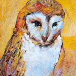 """Owl in Ochre"" by TonjaSell"