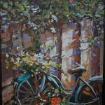 """Old Blue Bike"" by BCArt"