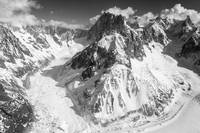 Glaciers in the Mont Blanc Massif