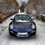 """Snow, Lane, Porsche 997"" by justhype"