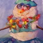 """Aloha Snowman"" by jacquelinebrewerart"