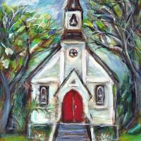 little church Art Prints & Posters by Angie Ketelhut