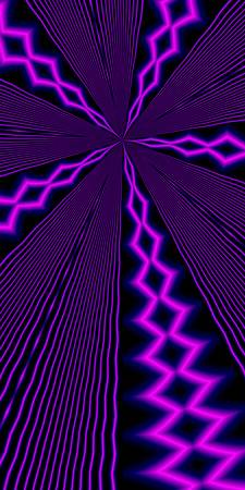 Lightening Kaleidoscope - Purple