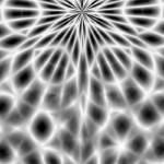 """Star Kaleidoscope - Black and White"" by WickedPride"