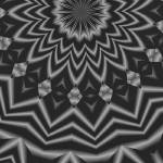 """Black Kaleidoscope Flower"" by WickedPride"