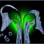 """k242n10e1 untitled glass green confetti"" by inwonderdesigns"