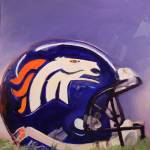 """Broncos"" by jacquelinebrewerart"