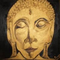 Golden Buddha Nirvana Art Prints & Posters by Pius Prabhu