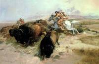 Buffalo Hunt, 1897 (oil on canvas)