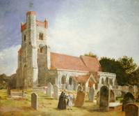 The Old Church, Ewell, 1847 (oil on canvas)