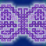 """Purple Knotwork Butterfly"" by WickedPride"