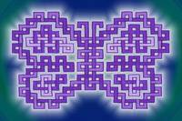 Purple Knotwork Butterfly