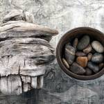 """Driftwood and Stones"" by ElenaRay"