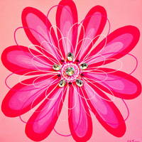 """Pink Glitter Flower"" by Christine Jones"