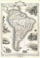 Vintage Map of South America (1850)