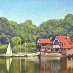 """Jamaica Plain Pond Boathouse"" by AngeloJAversa"