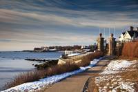 Cliff Walk in Winter, Newport Rhode Island