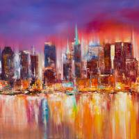 """Vibrant New York City Skyline"" by citywallart"