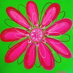 """Pink Flower"" by ckjonesart"