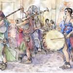 """Musicisti medievali"" by lucamassonedisegni"