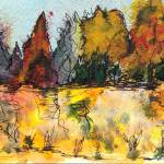 """Fall Trees"" by shelleybain"