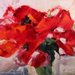 """Red Amaryllis"" by jacquelinebrewerart"