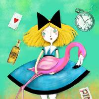 Alice in Wonderland Art Prints & Posters by Gaia Marfurt