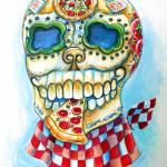 """Pizza Sugar Skull"" by HCalderon"