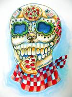 Pizza Sugar Skull