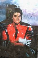 Micheal Jackson Autographed Oil Painting reprint