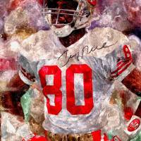 Jerry Rice Autographed Water Color print Art Prints & Posters by james nance