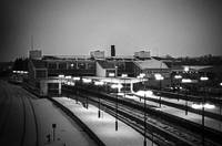 Banbury Station in the snow