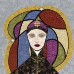 """""Hildegard of Bingen""  fabric mosaic"" by RemnantWorks"