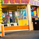 """Big One Crane Game Boardwalk Wildwood New Jersey"" by jamiestarling"