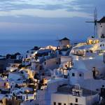 """Panorama of Santorini at night"" by emporoslight"