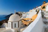 Fira's view in Santorini, Greece.