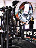 AWS 5 vintage motorcycle front view