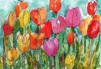 Watercolor Floral, Tulip Trouble