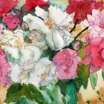 """Watercolor Flowers, Pretty Peonies, pink"" by schulmanart"