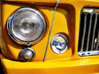 Yellow Willys Station Wagon headlight